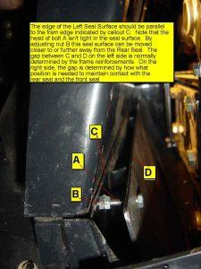 Left Rear Seal Surface Support Rear Bolt
