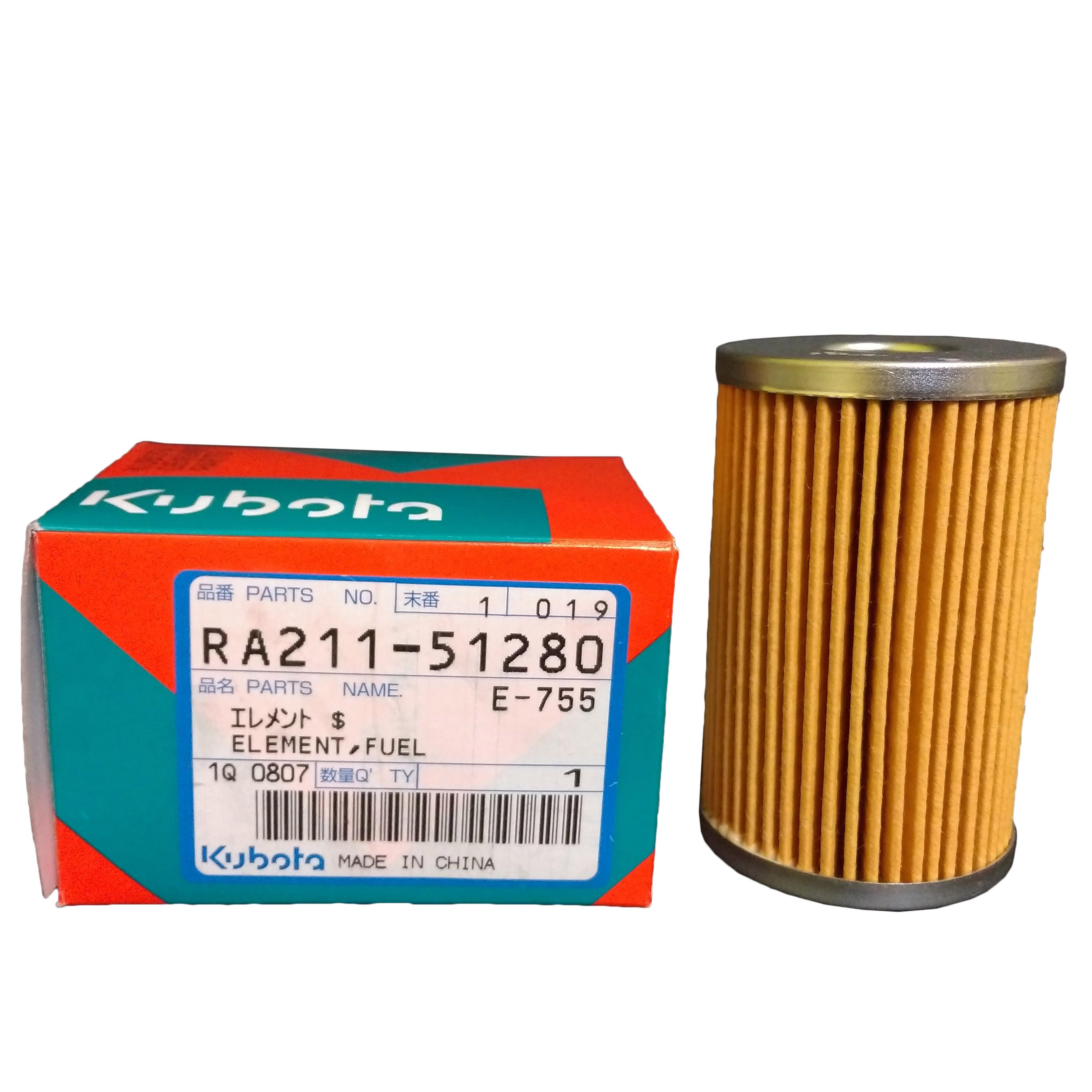 kubota fuel filter part ra211 51280 for kx121 3 kx161 3. Black Bedroom Furniture Sets. Home Design Ideas